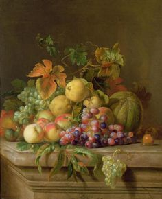 "Trademark Art ""A Fruit Still Life"" Canvas Wall Art by Jacob Bogdany Apple Flowers, Canvas Wall Art, Canvas Prints, Still Life Art, Fruit Art, Artist Canvas, Painting Prints, Painting Portraits, Fruit Painting"