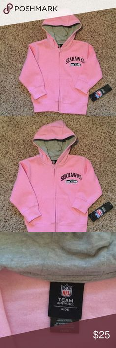 Seahawks Pink hoodie Adorable  pink kids Seattle Seahawks sweatshirt. NFL Team Apparel Jackets & Coats