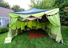 fun tent for the camping themed party