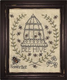Kathy Schmitz A Joyful Journey Complete Set - Barn Chick Quilts Bee Embroidery, Cross Stitch Embroidery, Embroidery Patterns, Primitive Stitchery, Bee Theme, Save The Bees, Sewing Box, Bees Knees, Queen Bees