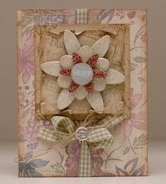 I love how Johanna distresses the edges on her accent pieces....soooo sweet!  from her blog entry dated May 3, 2010