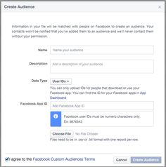 Facebook Updates Custom Audiences TOS: No Scraping UIDs Many advertisers have used scraping of UIDs to create Custom Audiences. Facebook has made changes to explicitly prohibit and prevent this.