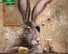 Signed Art prints by artist and humorist Will Bullas. by WillBullasStudio Bar Art, Etsy Seller, Art Prints, Handmade Gifts, Artist, Animals, Vintage, Art Impressions, Kid Craft Gifts