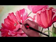 Pink Peonies - Watercolor Painting Time Lapse Process - YouTube