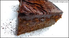 Chocolate Chestnut Cake: a moist cake topped with chocolate ganache...