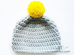 Super Bulky Crochet Hat Pattern (free & easy) | Chunky Crochet Hat Basic Crochet Beanie Pattern, Chunky Crochet Hat, Beanie Knitting Patterns Free, Beanie Pattern Free, Crochet Kids Hats, Crochet Round, Crochet Blanket Patterns, Free Pattern, Crochet Hook Sizes Chart