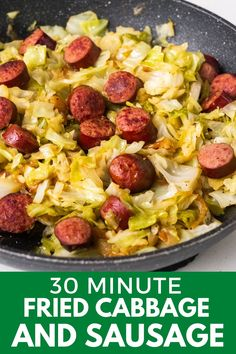 Cabbage Recipes With Sausage, Cabbage And Smoked Sausage, Ham And Cabbage Soup, Bacon Fried Cabbage, Smoked Sausage Recipes, Recipes With Summer Sausage, Recipe For Fried Cabbage, Meals With Cabbage, How To Cook Cabbage