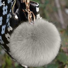 2016 NEW Fashion Hot Furry Ball Keychain Bag Key Hanging Tail Accessories Rabbit Fur Key Ring  6SPK 7F16 7XA7-in Key Chains from Jewelry on Aliexpress.com | Alibaba Group