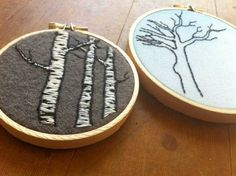 tree embroidery...trees always welcome
