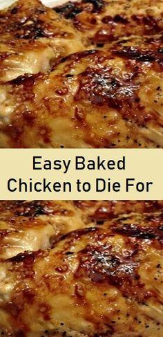 Easy Baked Chicken, Easy Chicken Recipes, Meat Recipes, Dinner Recipes, Cooking Recipes, Simple Baked Chicken Recipes, Best Baked Chicken Recipe, Keto Chicken, Chicken