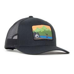 Simms derek deyoung brown trout flexfit trucker hat for Fly fishing trucker hat