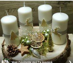 Basteln Basteln - New Ideas Christmas Candles, Christmas Love, Christmas Holidays, Christmas Crafts, Christmas Ornaments, Christmas Arrangements, Flower Arrangements, Christmas Colour Schemes, Advent Wreath