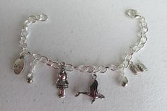 Mother Goose themed charm Bracelet  custom made by Suzqs Chic  $17.50  Great baby shower gift