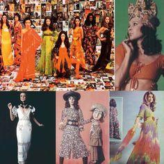 diversos modelos criados por Zuzu Angel, com inspirações na cultura brasileira: