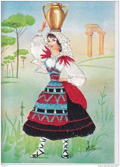 Lazio region, Italy Folk Costume, Costumes, Sicily, Traditional Dresses, Pagan, Origami, Portugal, Poster, Princess Zelda
