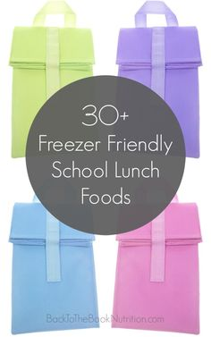 Healthy school lunch foods you can make ahead and freeze for the entire week, month, or semester to make those busy mornings so much easier!