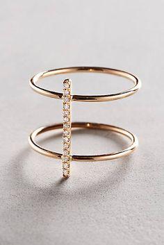 Diamond Cuff Ring in 14k Gold