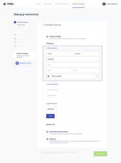 Indigo - Buying flow by Adrian Madacs Form Design Web, App Design, Dashboard Design Template, Ui Forms, Ui Web, Application Design, Design System, Web Layout, User Interface Design