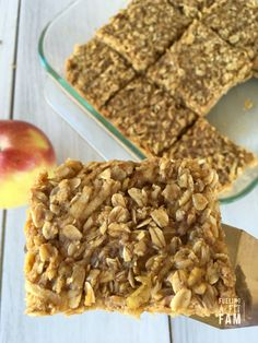 These Apple Peanut Butter Bars are easy to eat for breakfast, lunch or snack. They are easy, healthy and loved by all.
