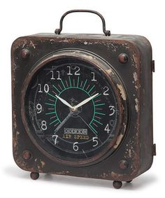 Look what I found on #zulily! Black Iron Table Clock #zulilyfinds