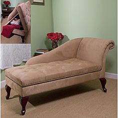 @Overstock - Chaise is perfect for relaxing from a hard day's work  Chair is designed to keep you comfortable while sitting back  Furniture piece has a unique style with hidden storage under the seathttp://www.overstock.com/Home-Garden/Tan-Chaise-Lounge-with-Storage/3545807/product.html?CID=214117 $232.24