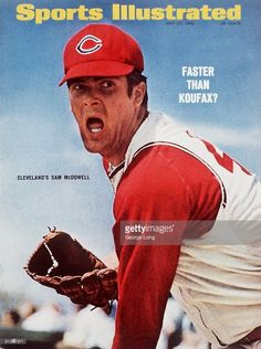 May 1966 Sports Illustrated via Getty Images Cover, Baseball: Closeup of Cleveland Indians Sam McDowell pitching during spring training, Nogales, Mexico Get premium, high resolution news photos at Getty Images Youth Baseball Gloves, Baseball Uniforms, Baseball Players, Baseball Cards, Baseball Jerseys, Angels Baseball, Baseball Shoes, Baseball Motivational Quotes, American Baseball League