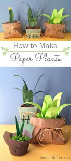 How to Make Paper Plants (Easy) - LOVE these sooooo much!!!