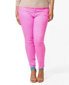 Polka Dot Skinnies | FOREVER21 PLUS - 2040495079