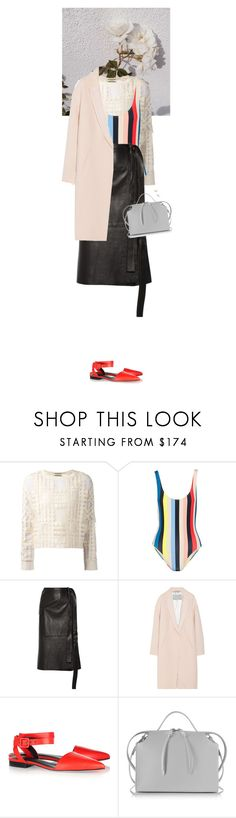 """""""Untitled #2941"""" by wizmurphy ❤ liked on Polyvore featuring By Malene Birger, Solid & Striped, Helmut Lang, Alexander Wang, Jil Sander, Gorjana and HelmutLang"""