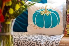 Another month of the #CreateandShare DIY Blogger challenge! This month, 16 bloggers used a Paint-A-Pillow kit from Cutting Edge Stencils to customize our own Ha…