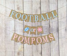 Gender Reveal Banner, Gender Reveal Themes, Gender Reveal Party Decorations, Baby Gender Reveal Party, Gender Reveal Football, Parties Decorations, Cute Banners, Baby Banners, Shower Banners
