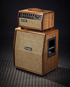 """""""Absolutely remarkable Mark Five: 25 Head and matching Mini-Rectifier 1x12 Slant Cab in our Private Reserve Tasmanian Blackwood with Wicker Cane Grille.…"""""""