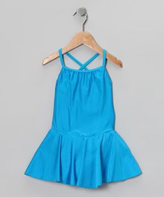 Take a look at this Blue Skirted Camisole Leotard - Toddler & Girls by Ballerina Girl on #zulily today!
