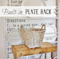 DIY Built In Plate Rack Via Www.thistlewoodfarms.com Plate Racks, Plate