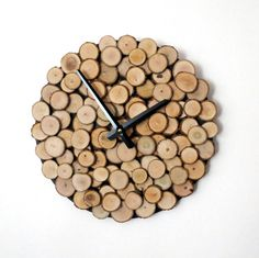 Wood Wall Clock,  Etsy Wall Decor, Unique Wall Clock,  Reclaimed Materials, Decor and  Housewares, Rustic Home Decor,  Home and Living