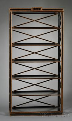 Charles Polluck Gustavian-style Bookcase  Painted maple  Manufactured by William Switzer, c. 2005  Realized 1k at Skinner, 12/18/10