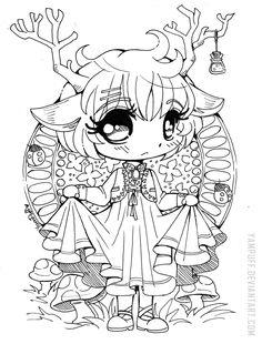 Little Deer Chibi ::Open Lineart:: by YamPuff.deviantart.com on @DeviantArt
