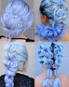 The Effective Pictures We Offer You About blue hair outfit A quality picture can tell you many thing Hair Color Purple, Hair Dye Colors, Pretty Hairstyles, Braided Hairstyles, Pelo Multicolor, Beautiful Hair Color, Pastel Hair, Aesthetic Hair, Dream Hair