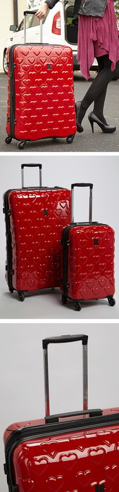 Heart luggage // expandable. cute.