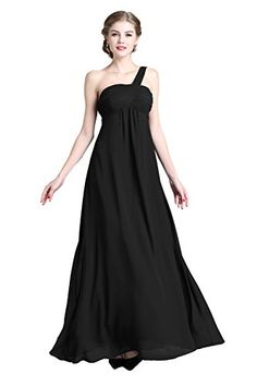 Denovelty Women's One Shoulder Evening Formal Bridesmaid Party Maxi Long Dress