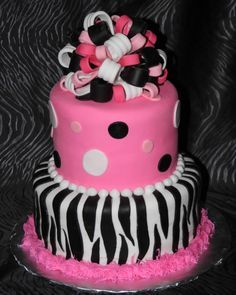 Z is for Zebra print cake :) gorgeous!