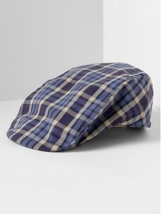 Navy plaid driving cap | Banana Republic.. Need this in pink please