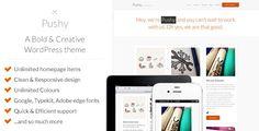 Pushy - A Bold & Creative Marketing WP theme