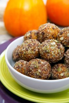 Chocolate Chip Pumpkin Protein Balls to Satisfy your pumpkin pie cravings.