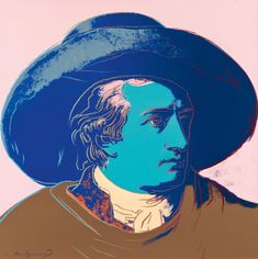 View Goethe By Andy Warhol; Andy Warhol Museum, Andy Warhol Works, Illustration Pop Art, Art Illustrations, Online Katalog, Futuristic Art, Silk Screen Printing, American Artists, Lovers Art