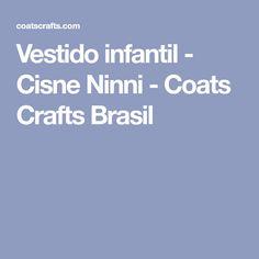 Vestido infantil - Cisne Ninni - Coats Crafts Brasil