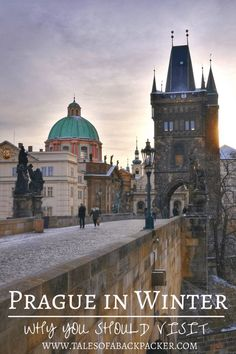 There is no bad time to visit Prague. Although Prague can get very cold in winter, the snow brings a magical white blanket to the city and it is much quieter than other times of the year. Here are some suggestions for what to do in Prague in winter, and why you should visit Prague during the winter! #Prague #CzechRepublic #Winter #Europe #Travel