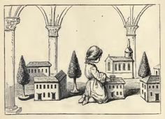 """""""Ahh! I thought you would all like to see this. Here is a whole doll-village, church and all."""" 