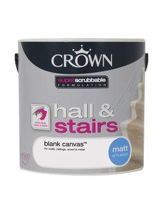 Blank Canvas - Matt - Hall Stairs | Crown Paints