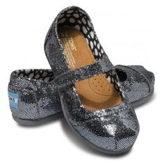 TOMS glitter mary janes -- fun!